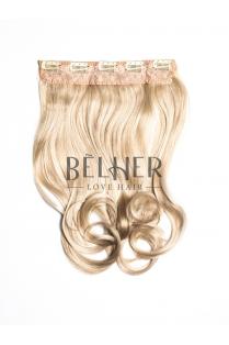 Blond Cenusiu Tresa Clip-On Ondulat