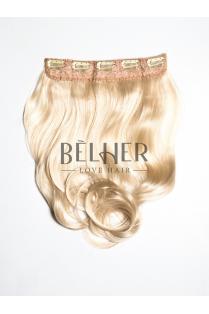Blond Deschis Tresa Clip-On Ondulat