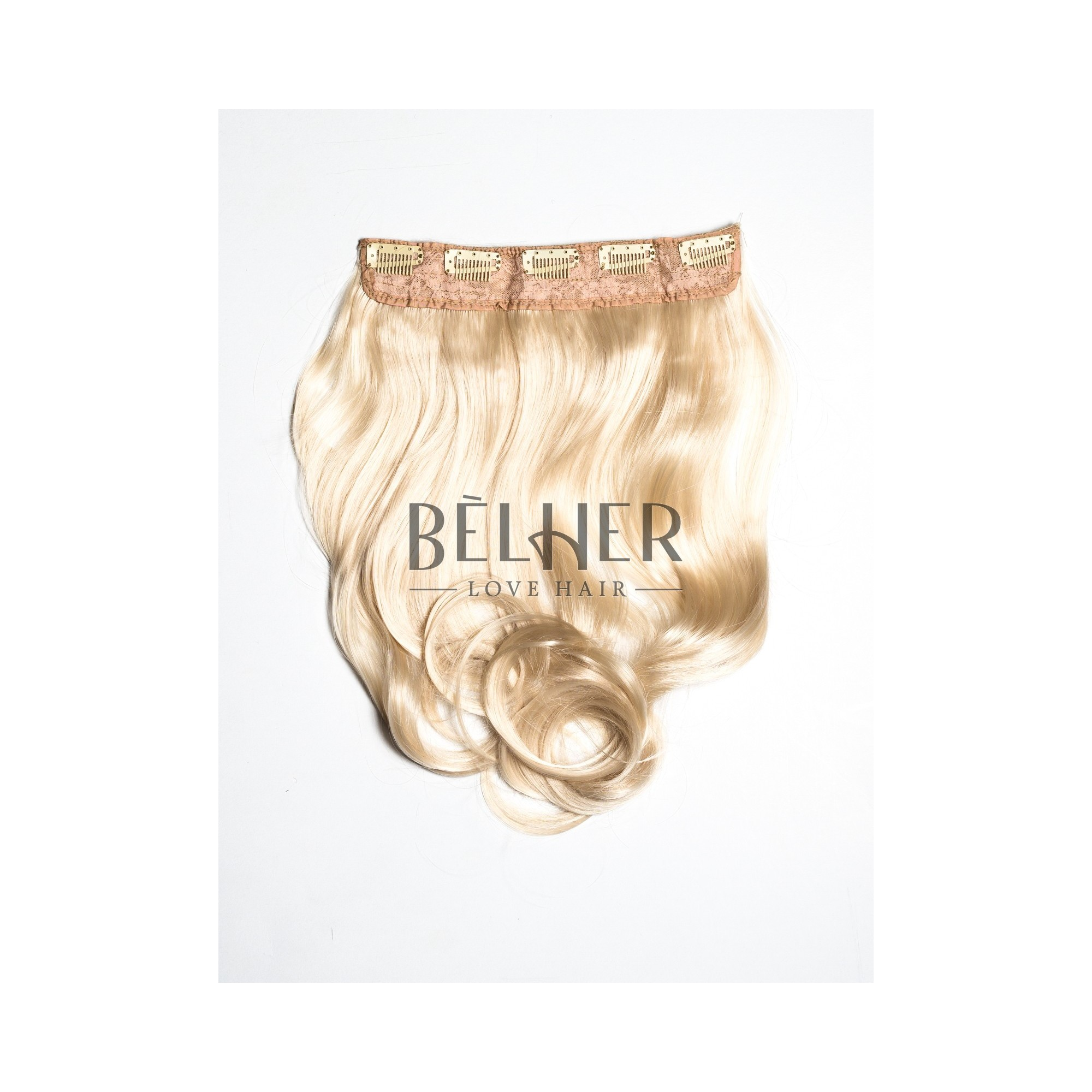 Tresa Clip-On Ondulat Blond Deschis