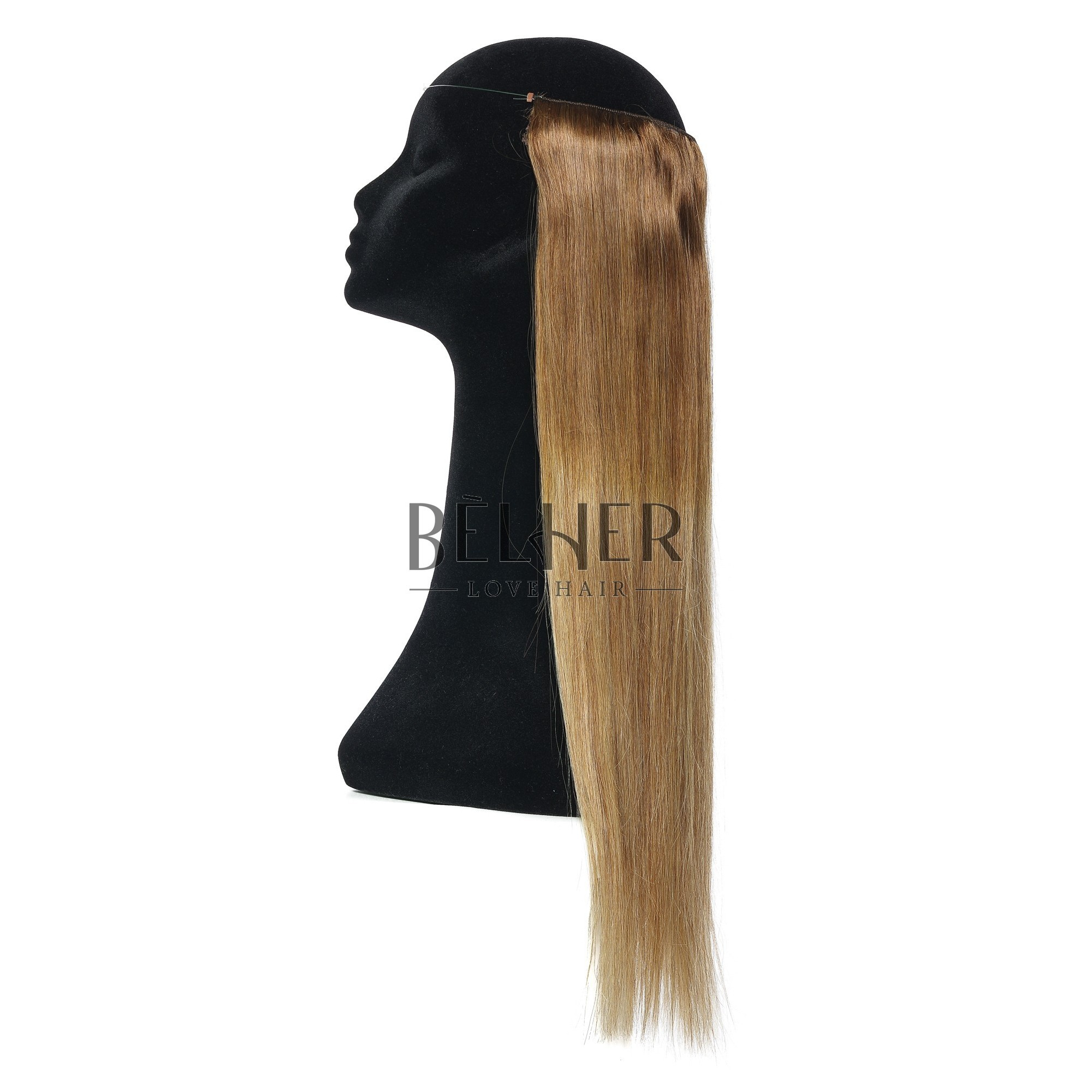 Extensii Flip-In Premium Ombre Saten Natural/Blond