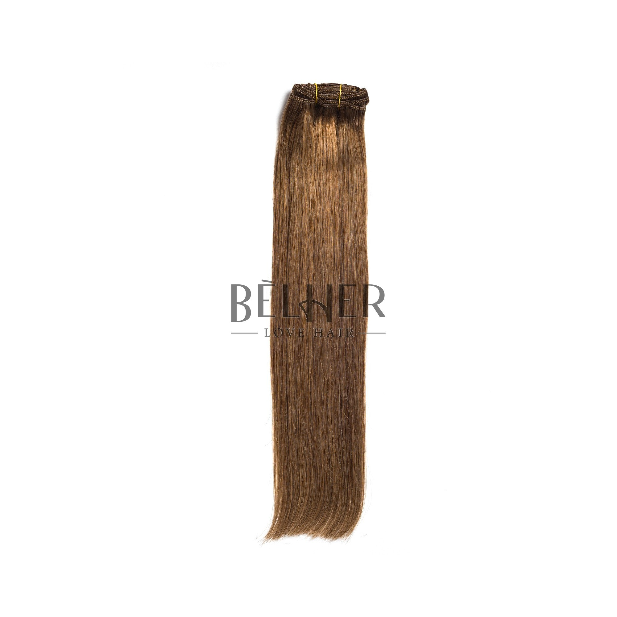 Extensii Clip-On Premium Blond Inchis Cenusiu