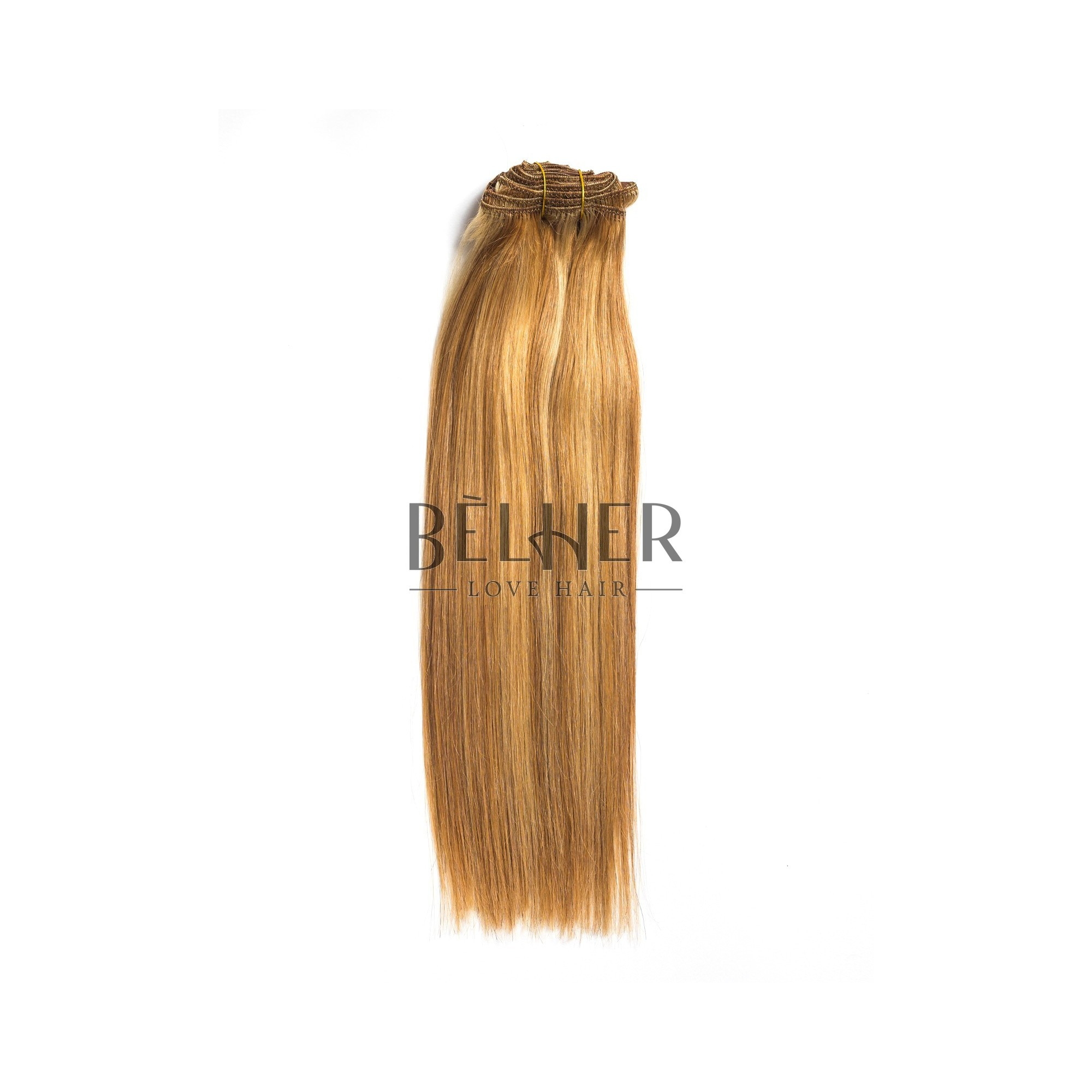 Extensii Clip-On Premium Mix Blond Auriu