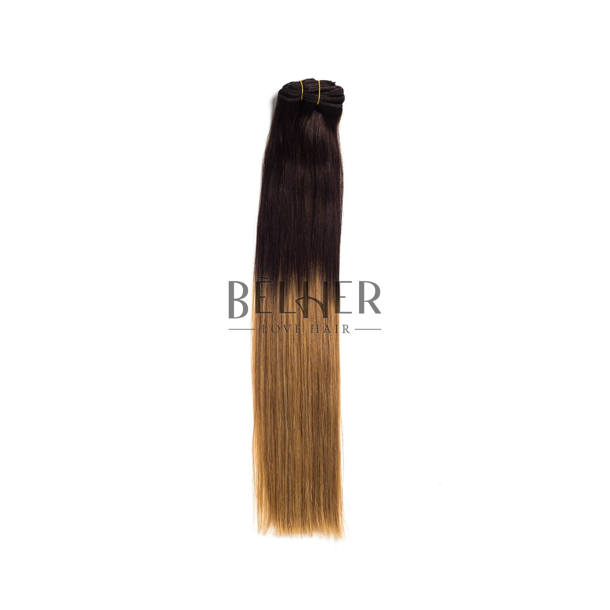 Extensii Clip-On Premium Ombre Saten/Blond Aluna