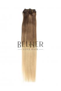 Ombre Saten Natural/Blond Clip-On Premium