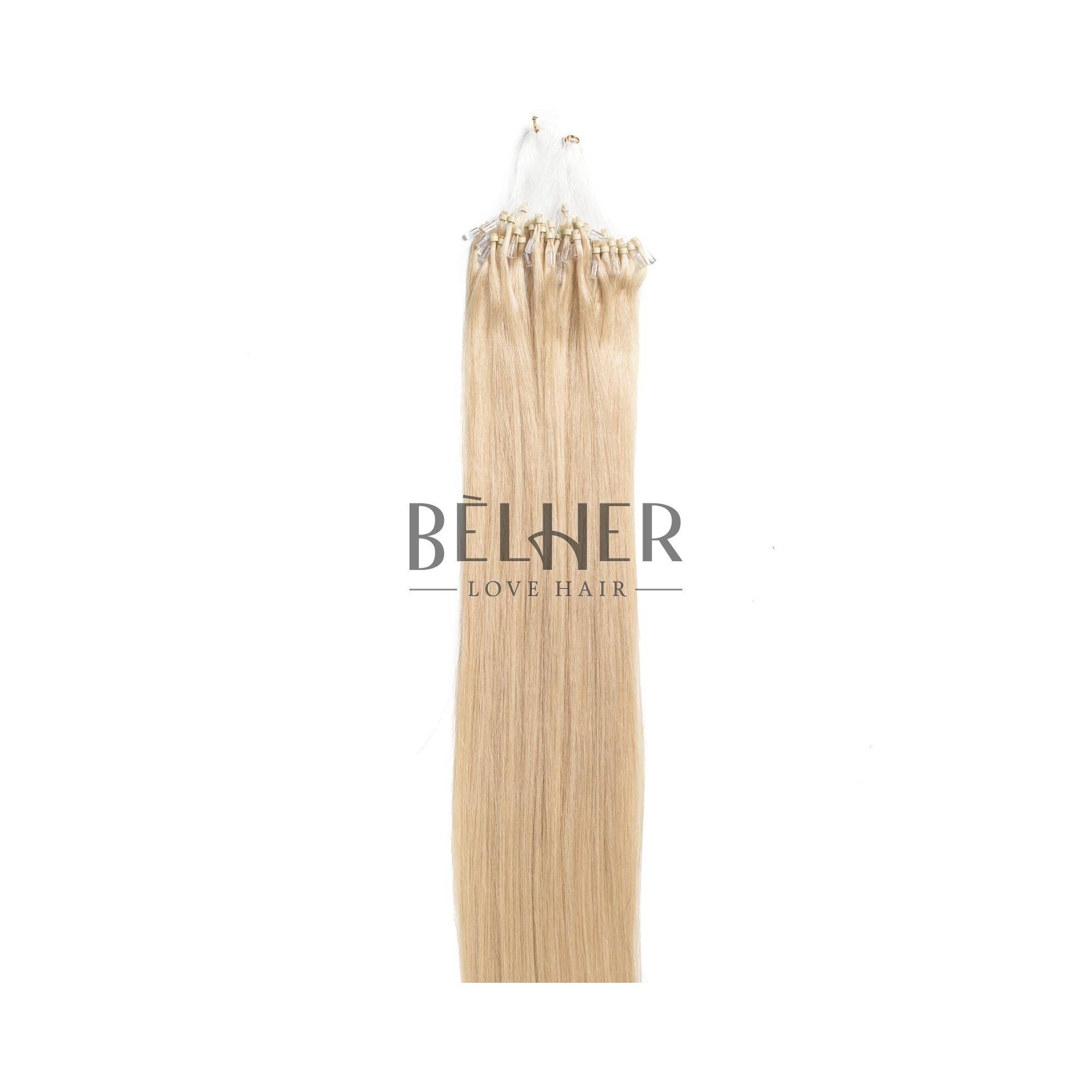 Extensii Microring Premium Blond Deschis Cenusiu