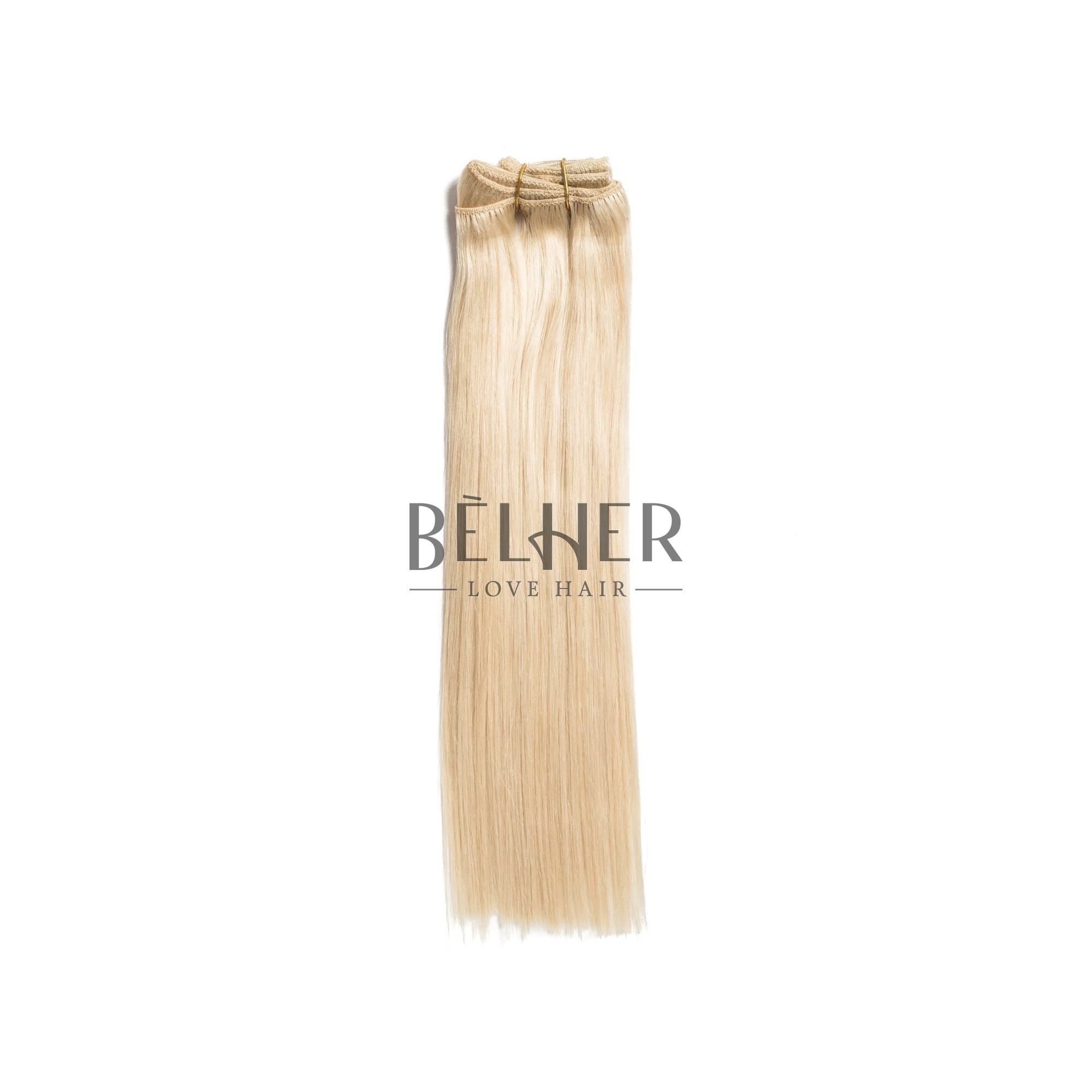 Extensii Clip-On Premium Blond Platinat