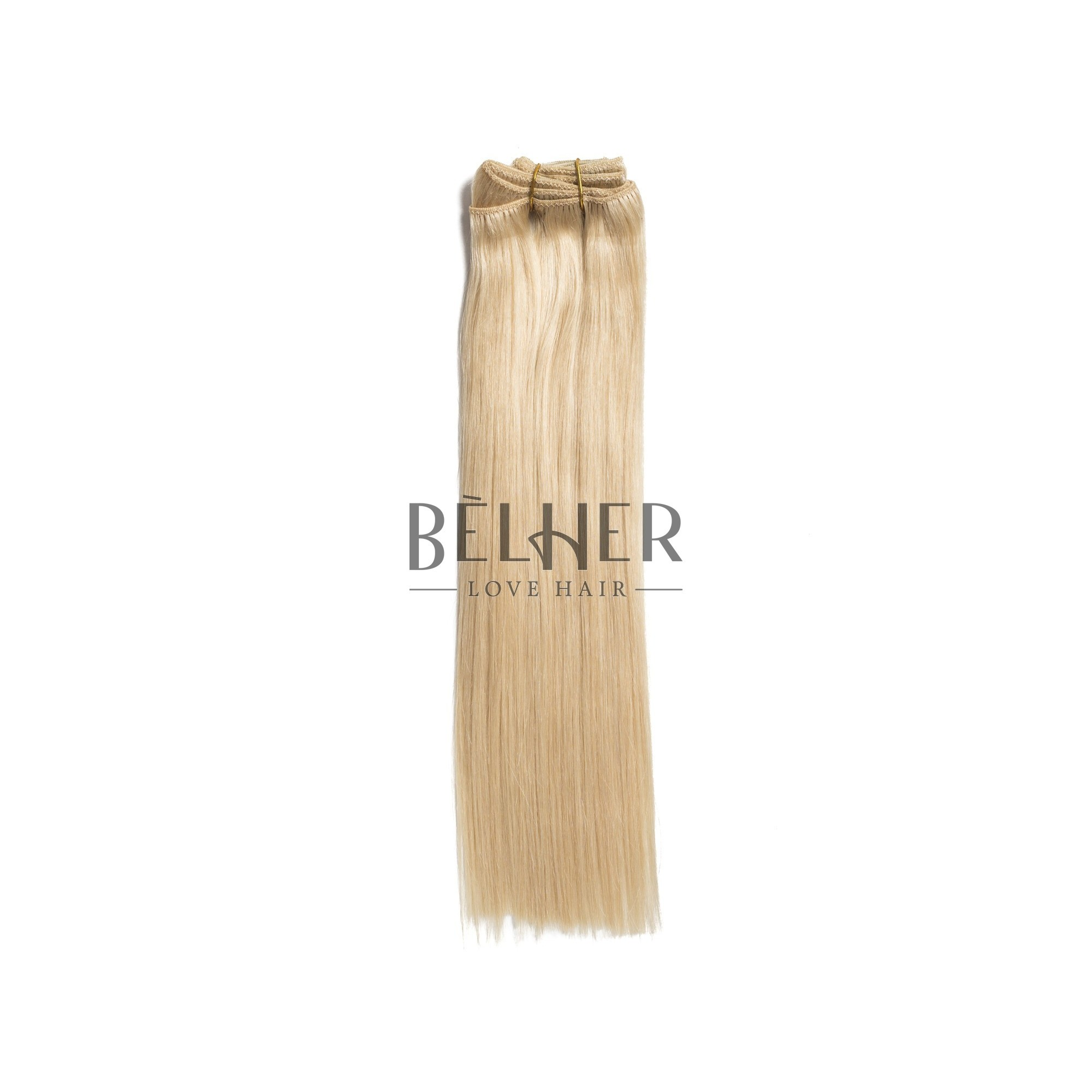 Extensii Clip-On Premium Blond Deschis Cenusiu