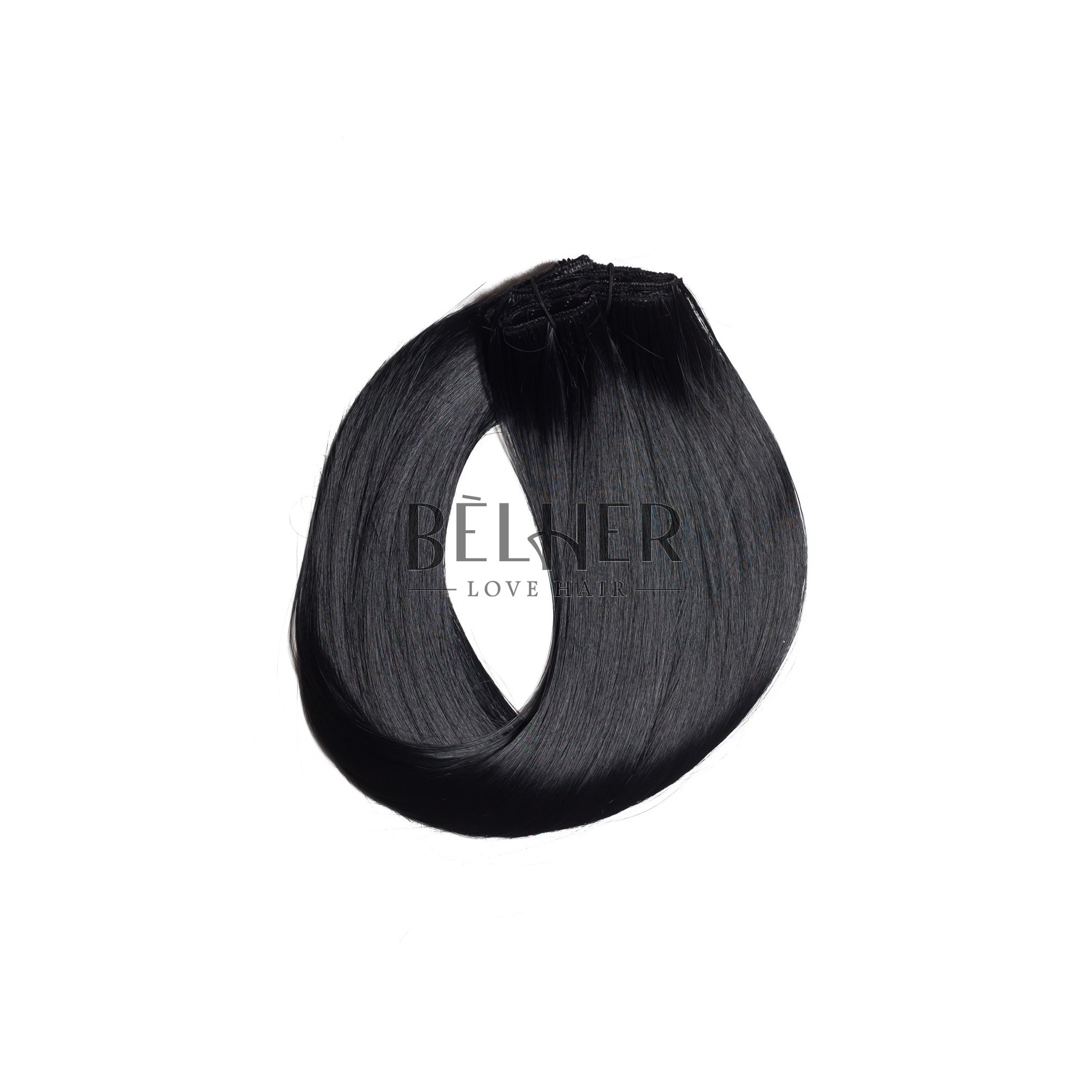 Extensii Clip-On Negru Intens