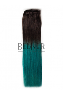Extensii Ombre Saten/Teal Clip-On DELUXE