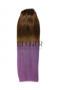 Extensii Ombre Saten Natural/Purple Clip-On DELUXE