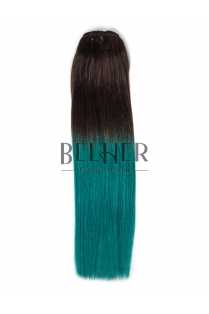 Extensii Ombre Saten/Teal Clip-On Premium