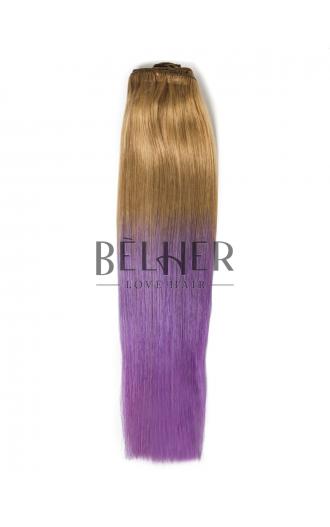 Extensii Clip-On PREMIUM Blond Aluna/Mov