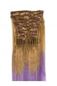 Extensii Blond Aluna/Purple Clip-On Premium