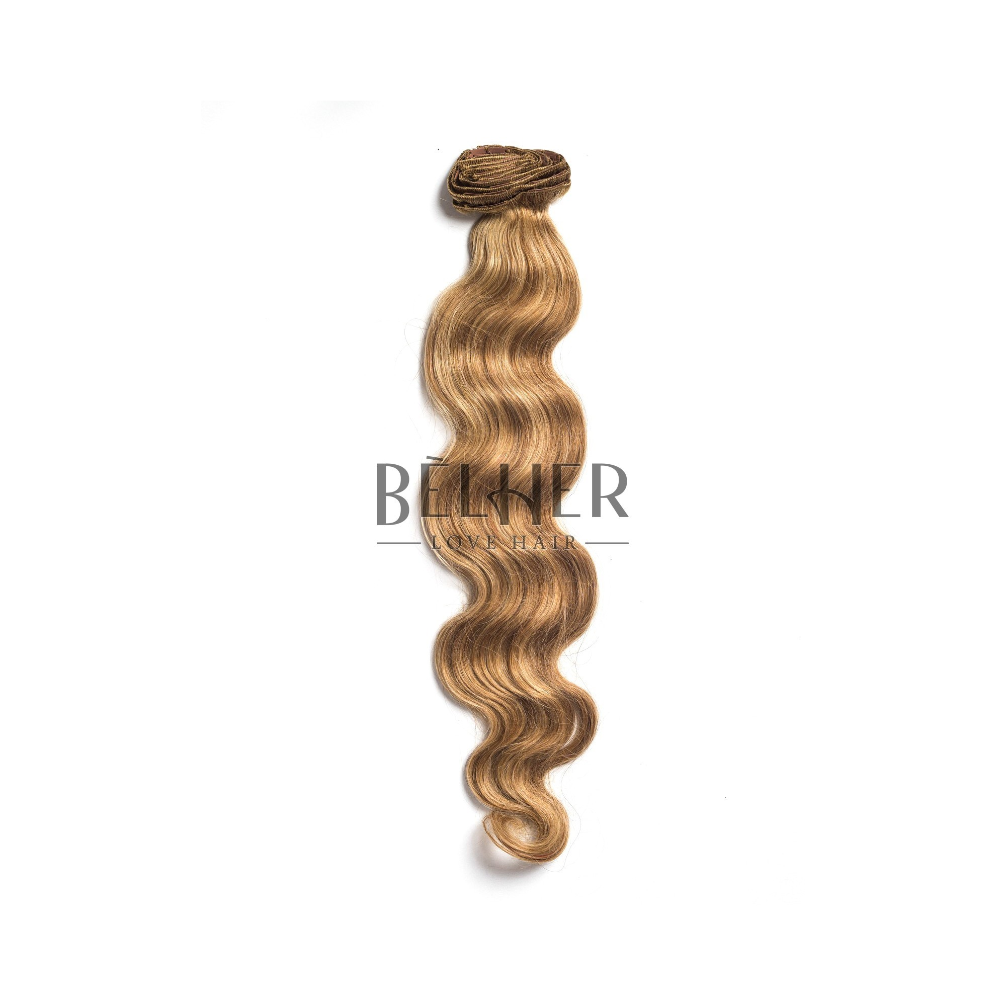 Extensii Clip-On Ondulat Premium Mix Blond Cenusiu