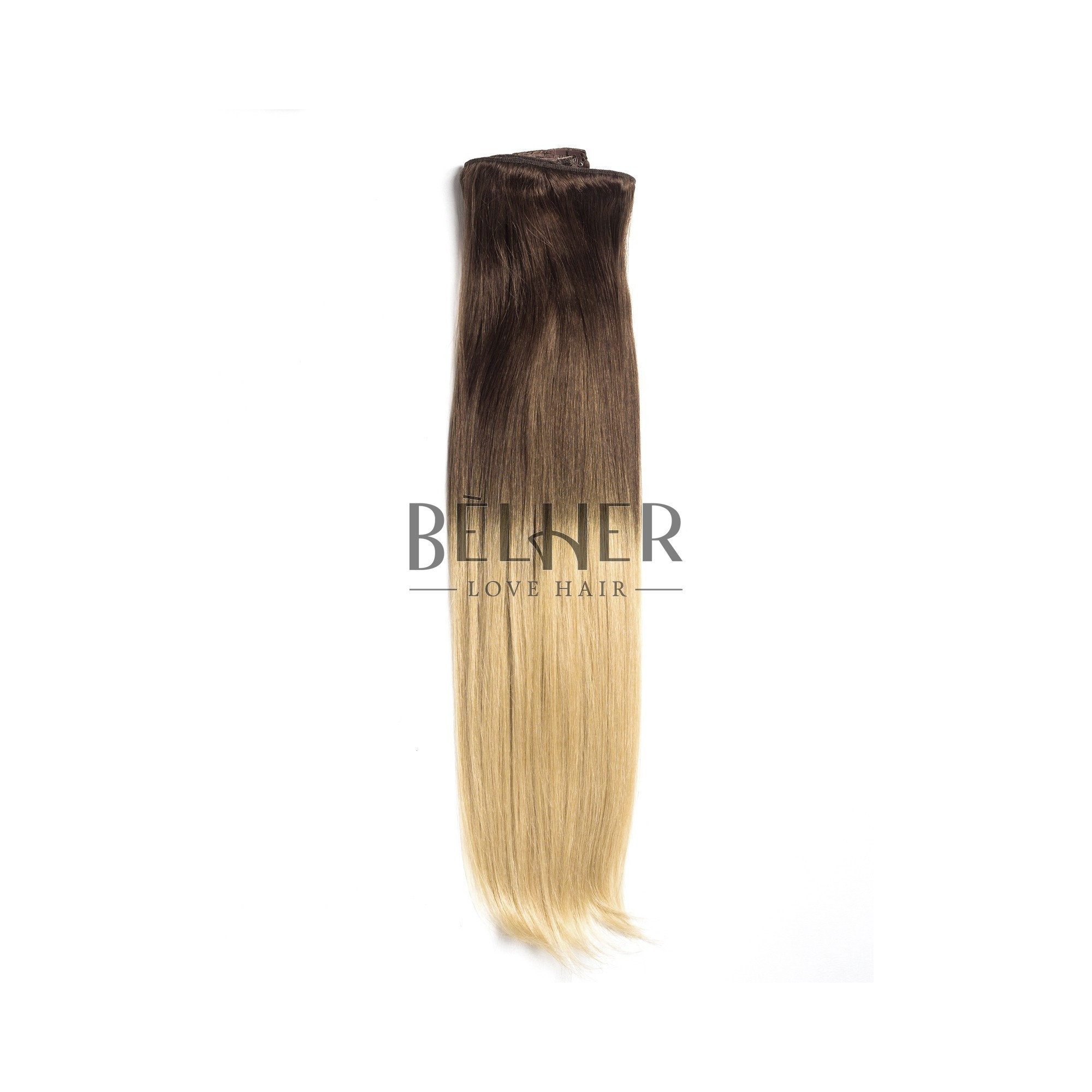 Extensii Clip-On Deluxe Ombre Saten Natural/Blond