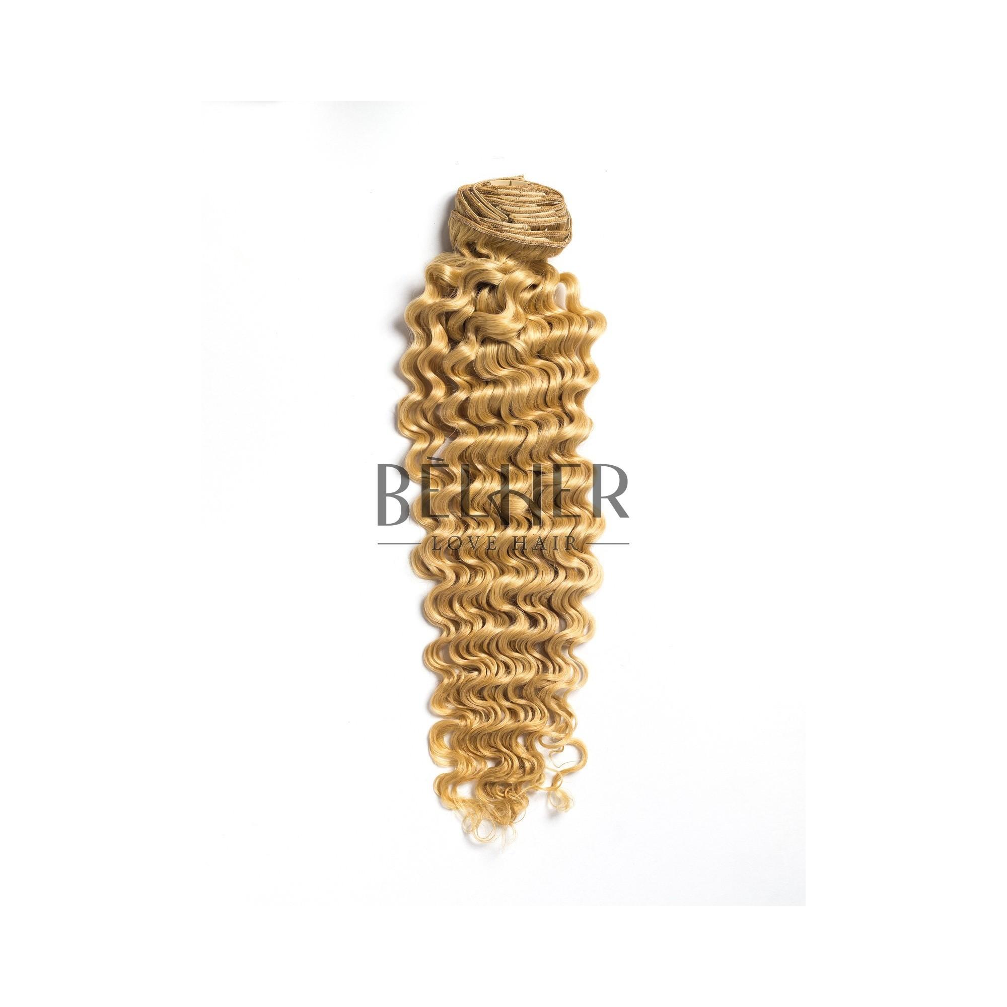 Extensii Clip-On Cret Premium Blond Deschis Auriu