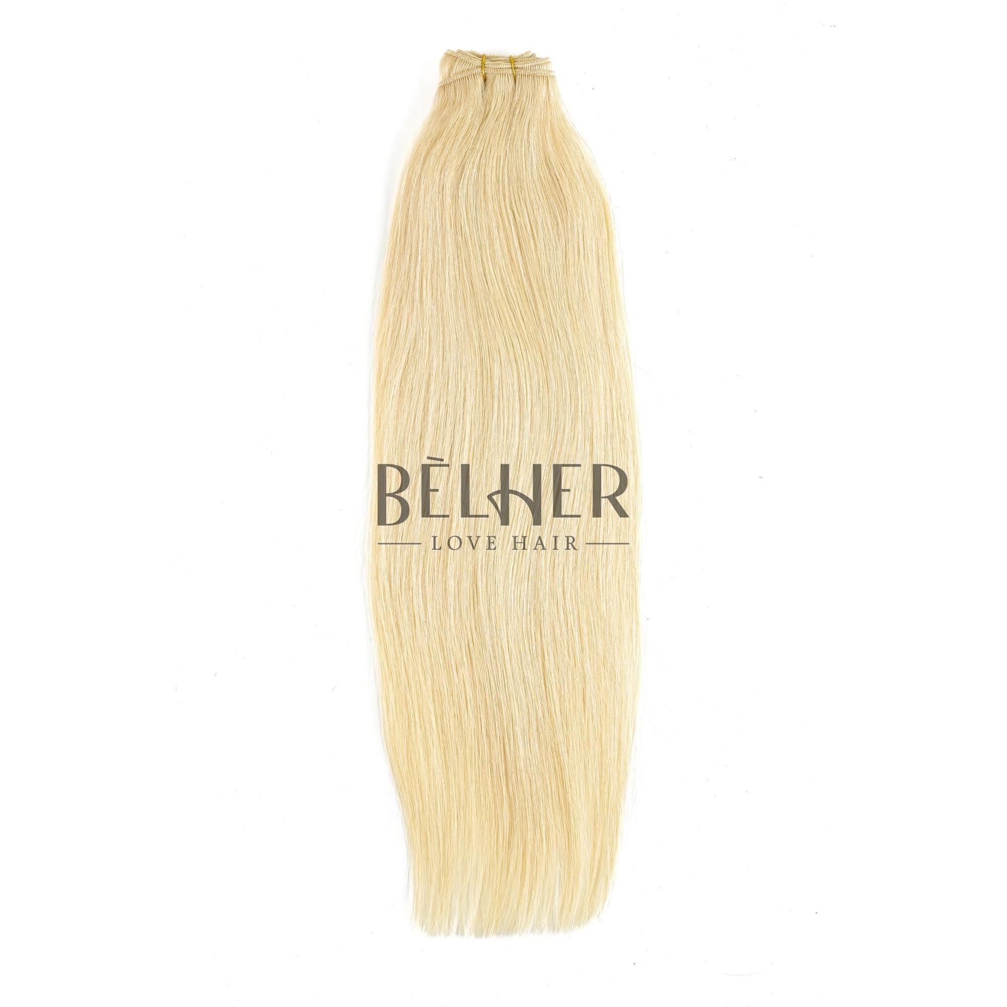 Extensii Cusute Premium Blond Deschis Auriu