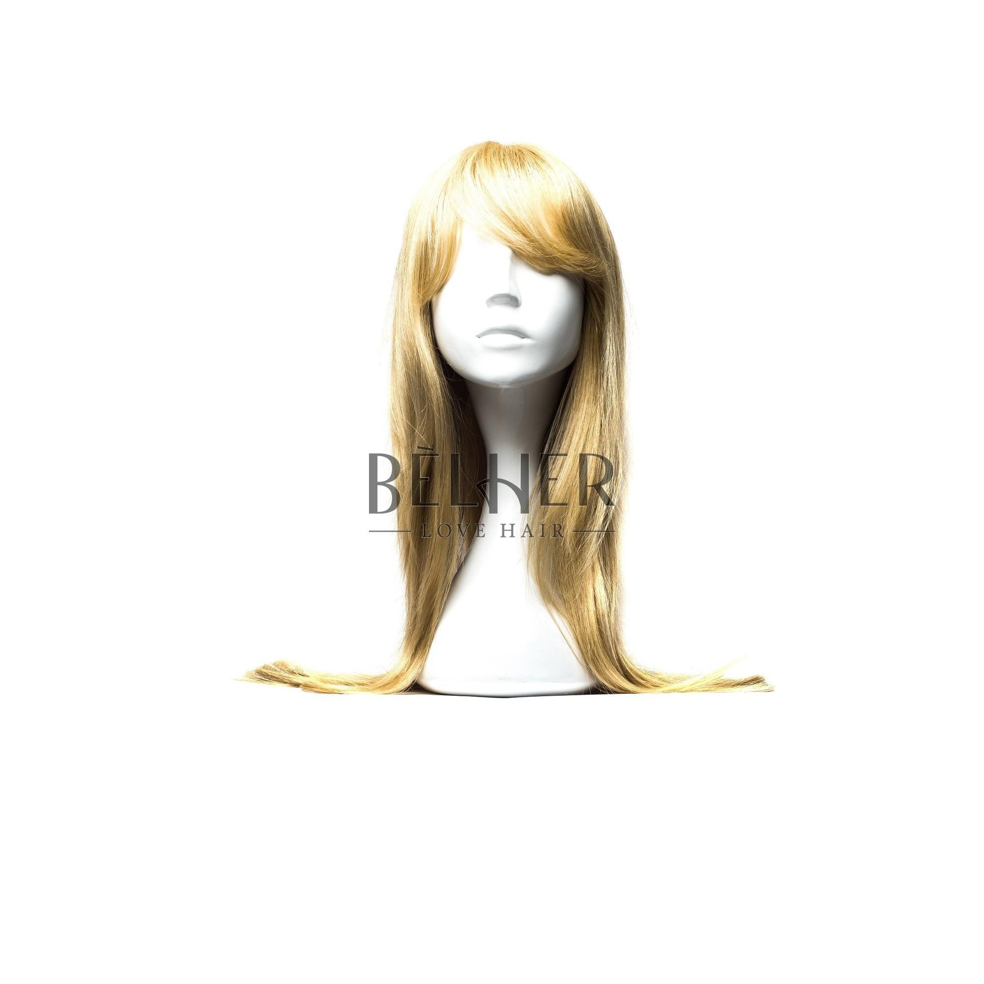 Peruca Naturala ELSA Blond Deschis Cenusiu