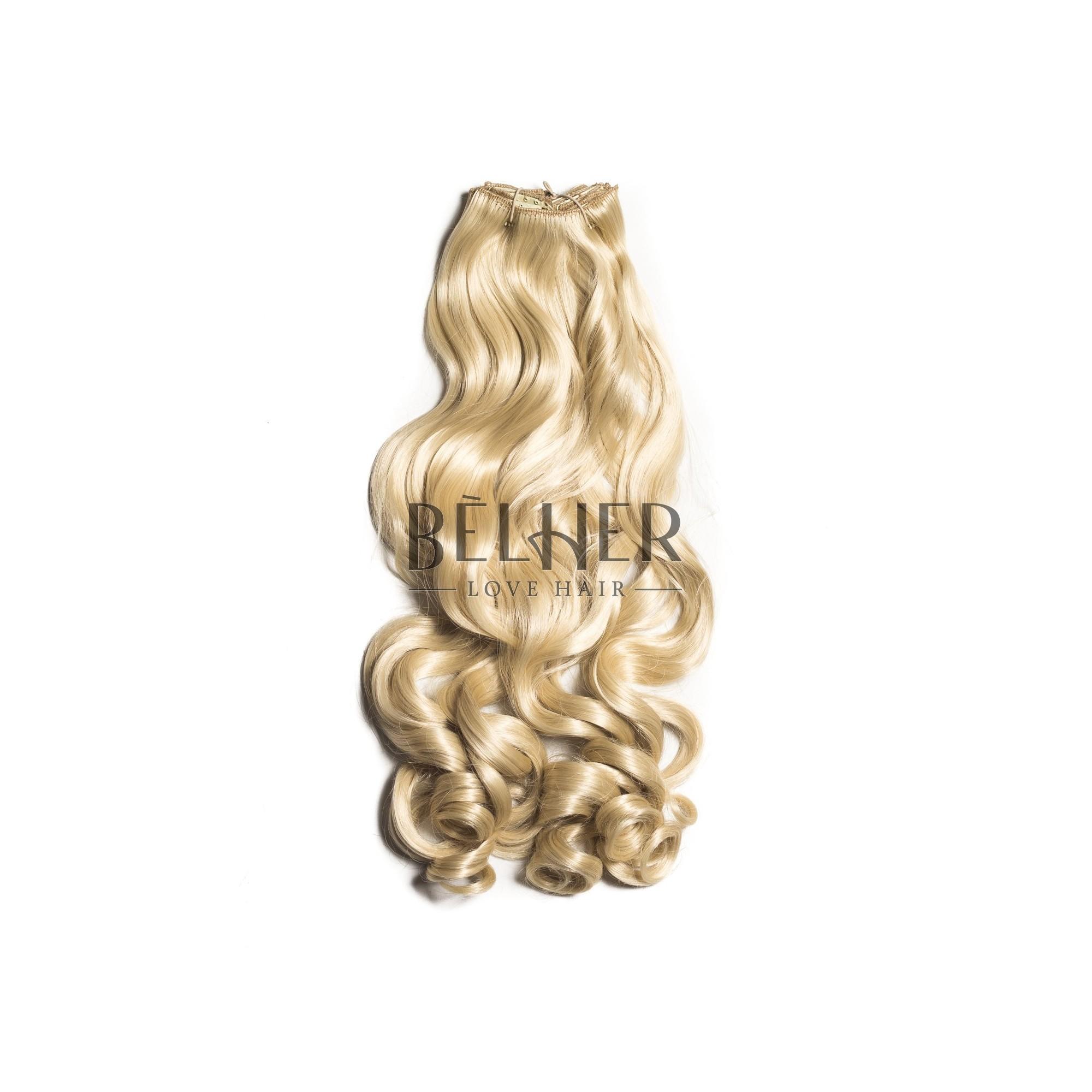 Extensii Clip-On Ondulat Blond Platinat