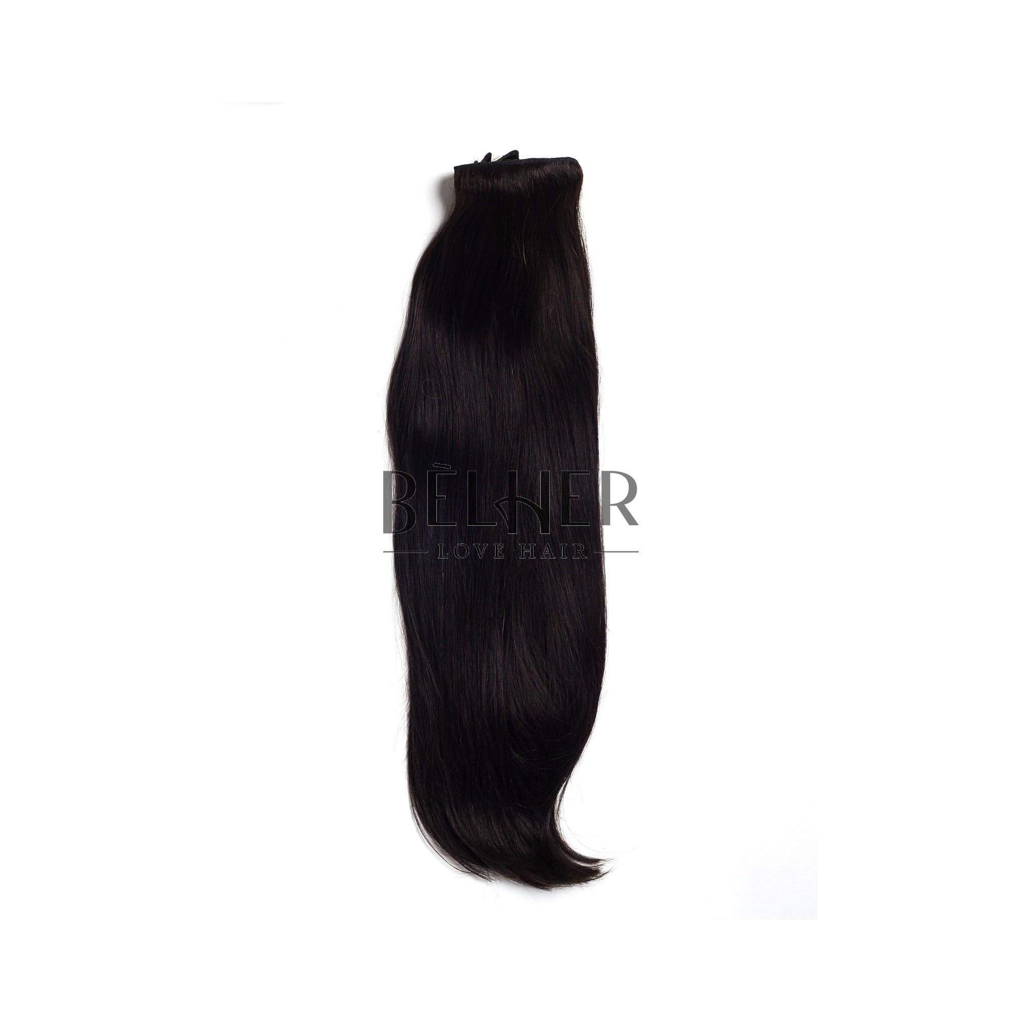 Extensii Clip-On Deluxe Negru Natural
