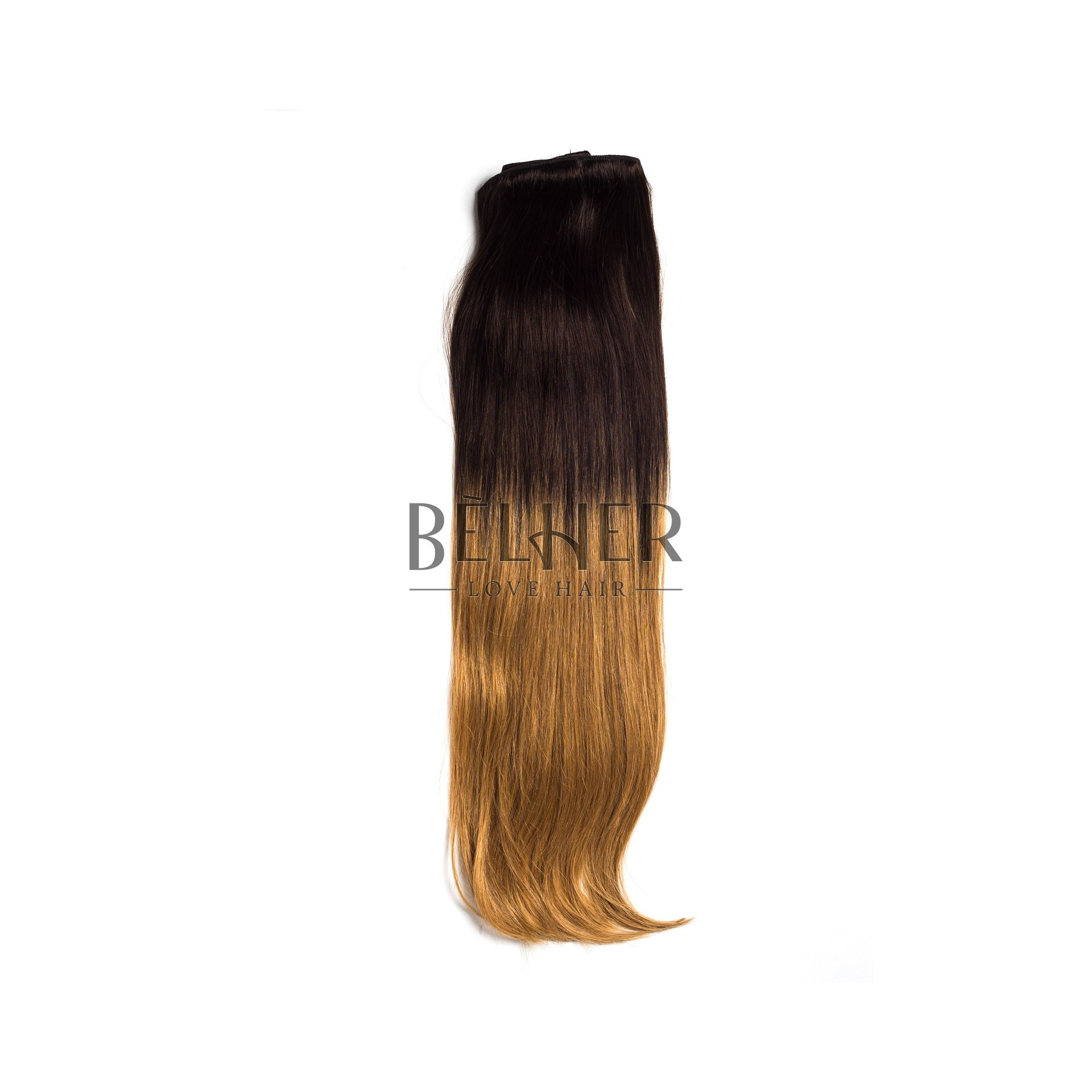 Extensii Clip-On Deluxe Ombre Ciocolatiu/Blond Miere