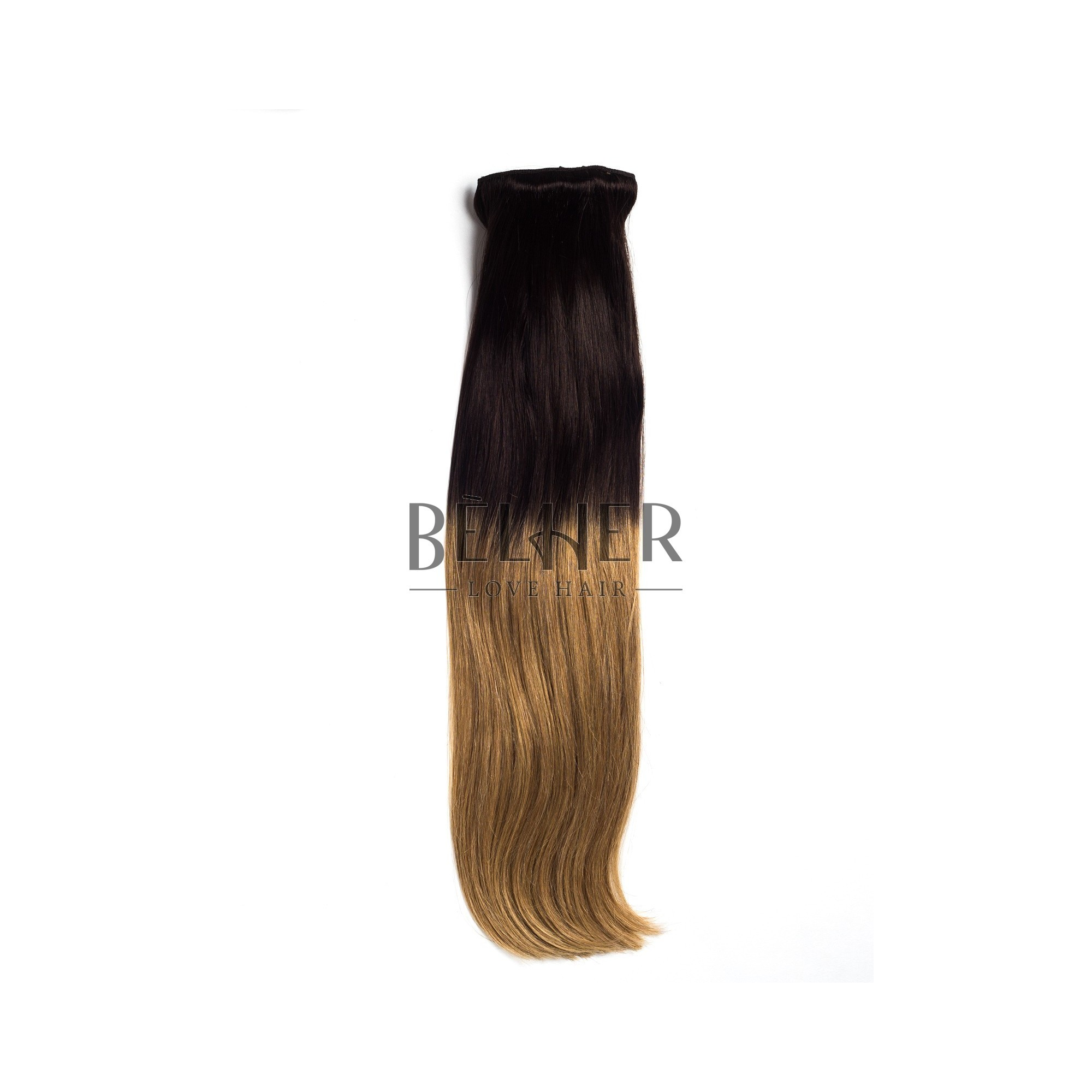 Extensii Clip-On Deluxe Ombre Saten Inchis/Blond Aluna