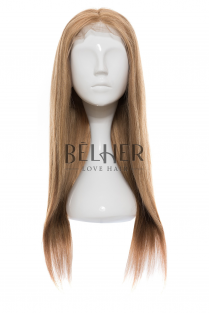 Peruca Naturala Diana Blond Inchis Cenusiu