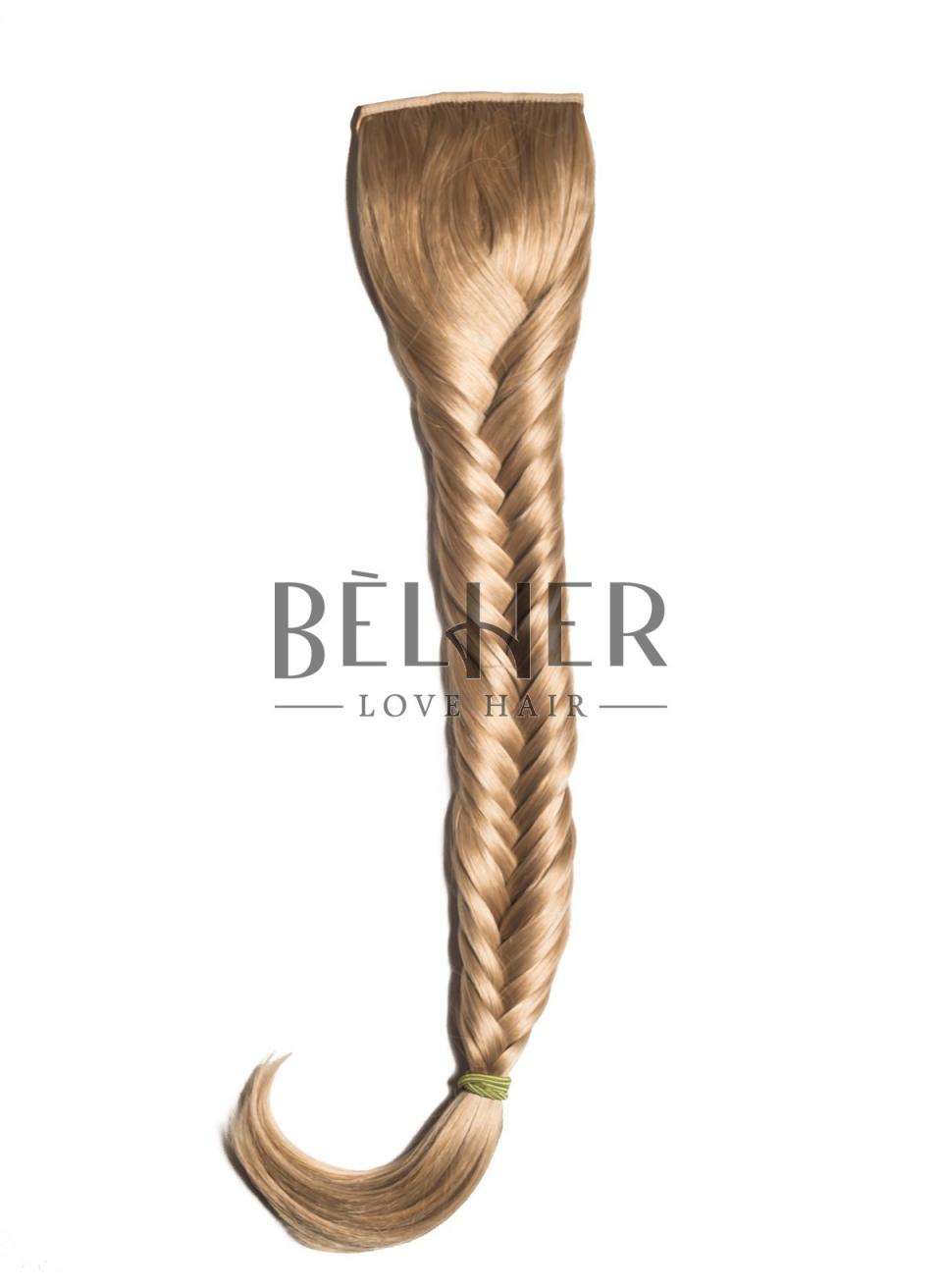 Blond Auriu Coada Par Impletit