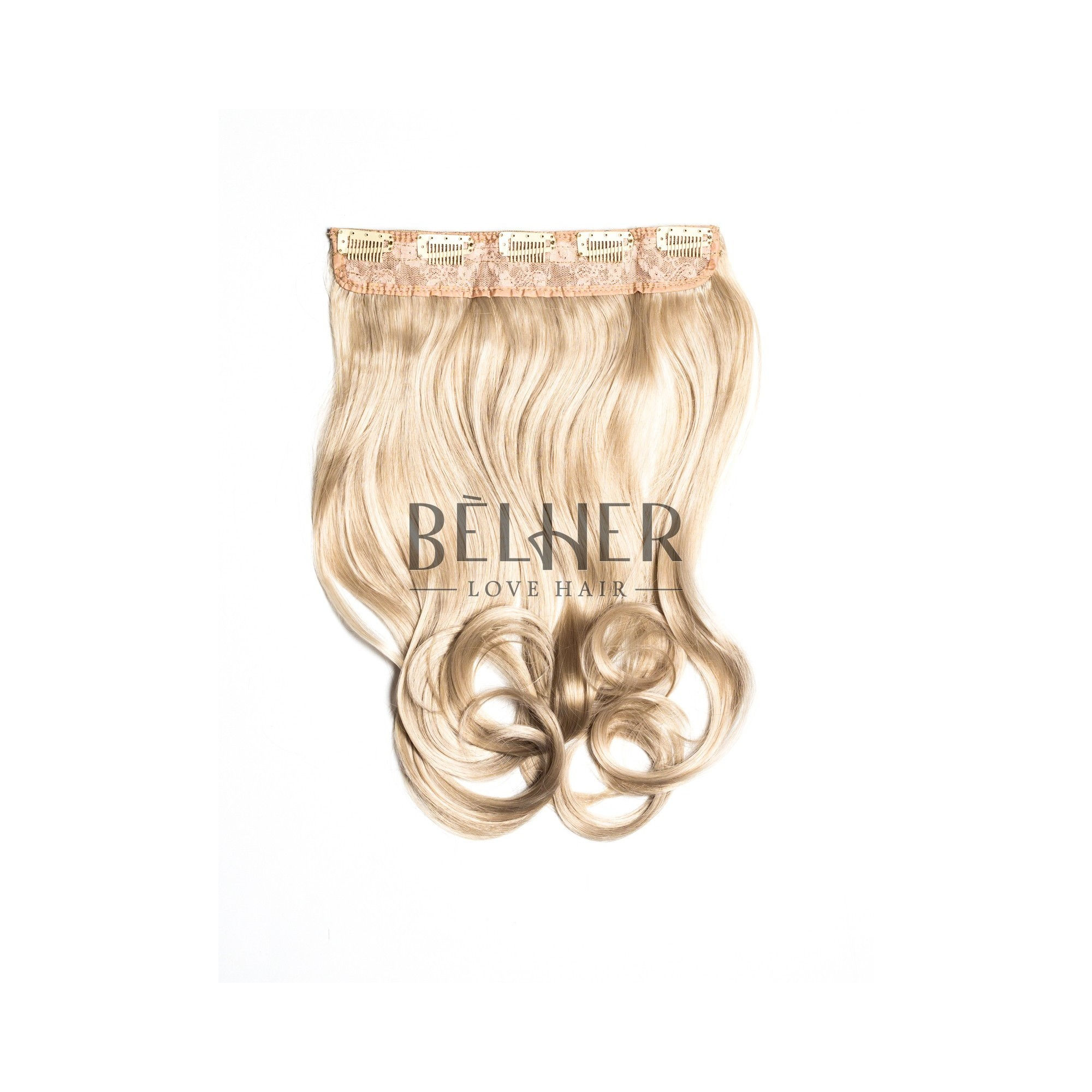 Tresa Clip-On Ondulat Blond Cenusiu