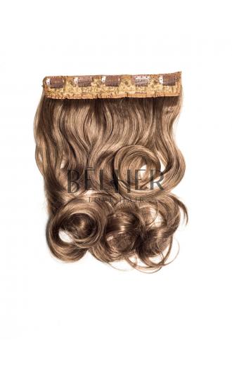 Blond Inchis Cenusiu Tresa Clip-On Ondulat