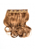 Blond Miere Tresa Clip-On Ondulat