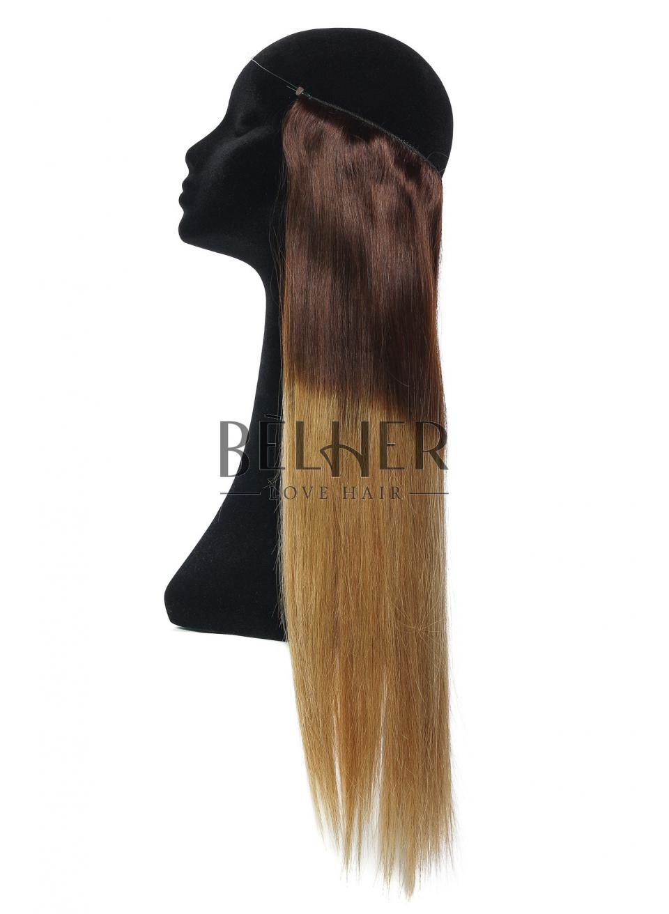 Ombre Ciocolatiu/Blond Miere Flip-In Premium