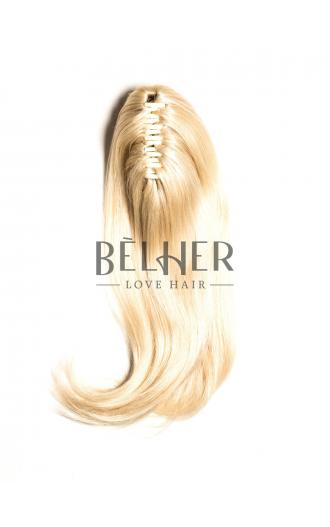 Coada Naturala Cu Cleste Blond Platinat
