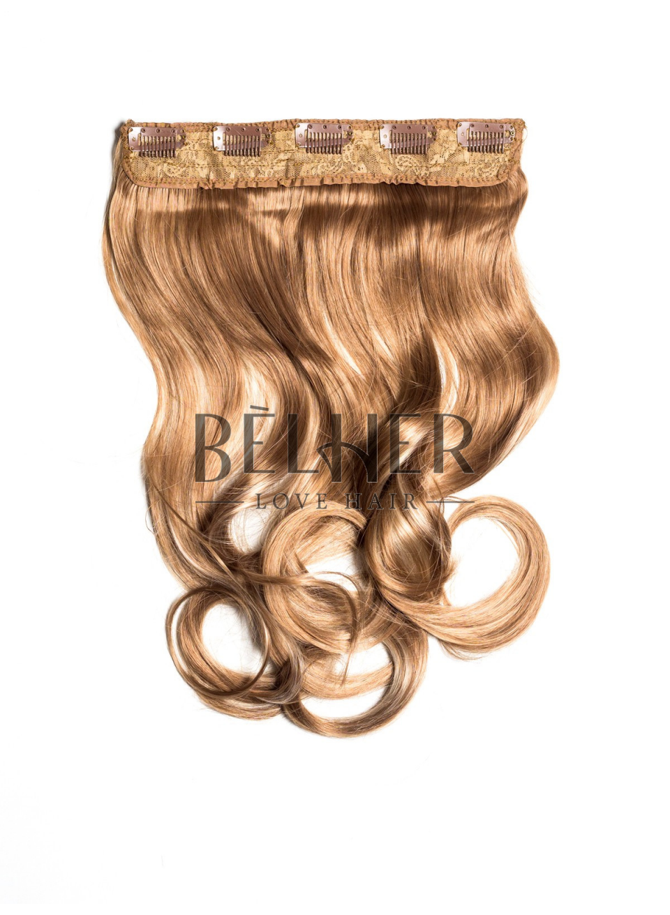 Mix Blond Tresa Clip-On Ondulat