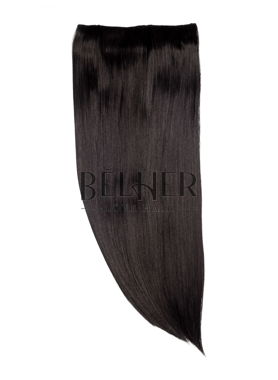 Negru Natural Tresa Clip-On