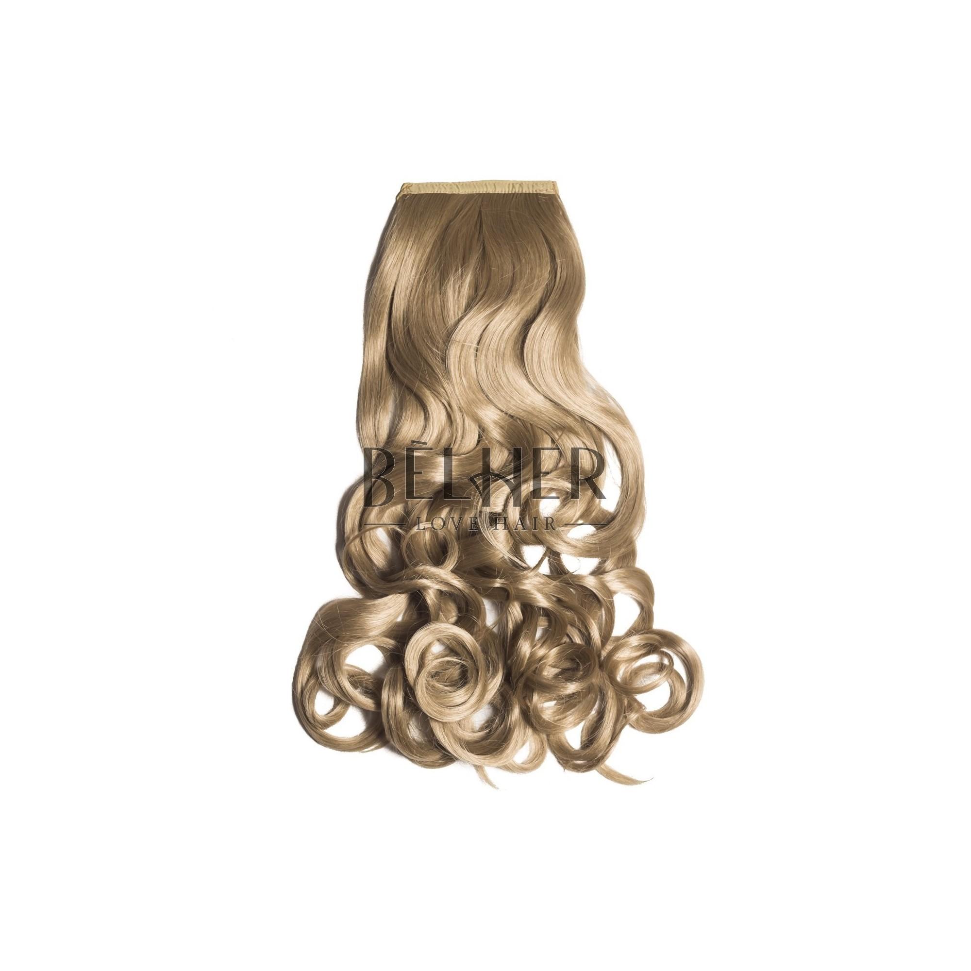 Extensii De Par Coada Din Par Sintetic Ondulat Blond Cenusiu