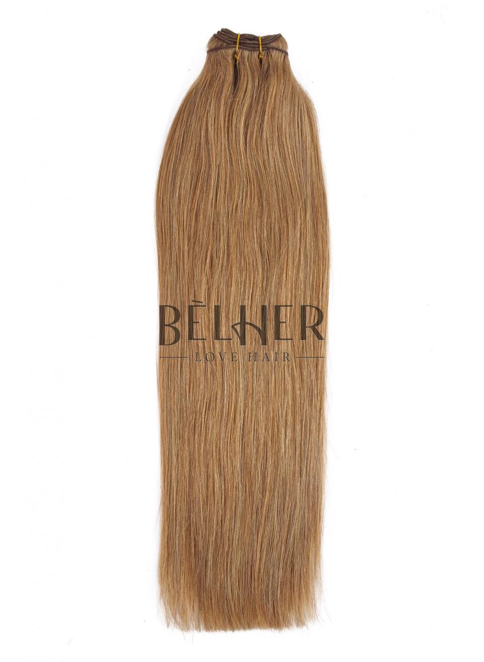 Blond Inchis Cenusiu Extensii Cusute Deluxe