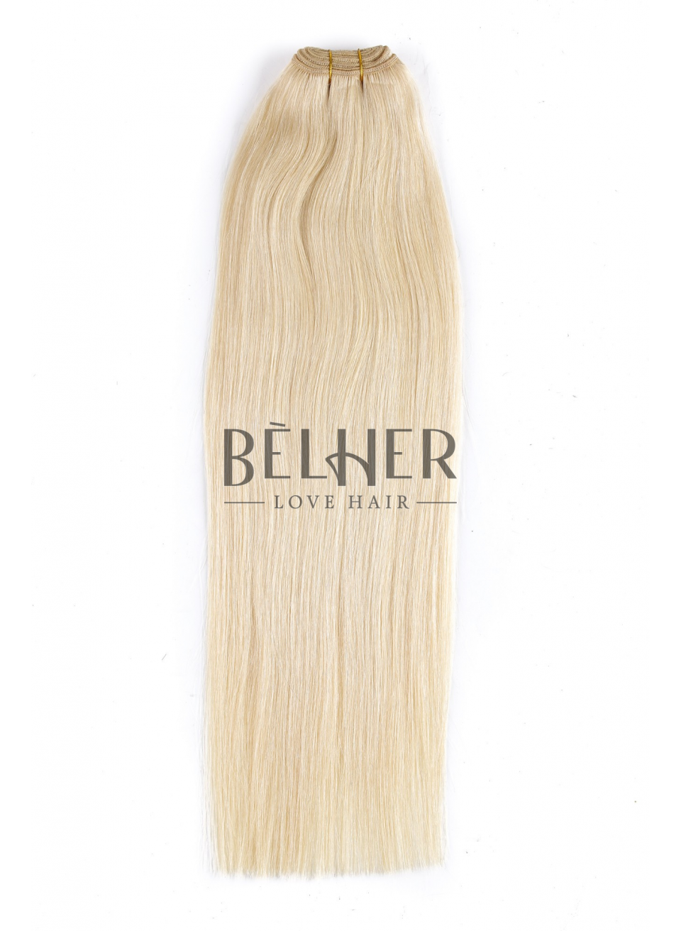 Blond Platinat Extensii Cusute Deluxe