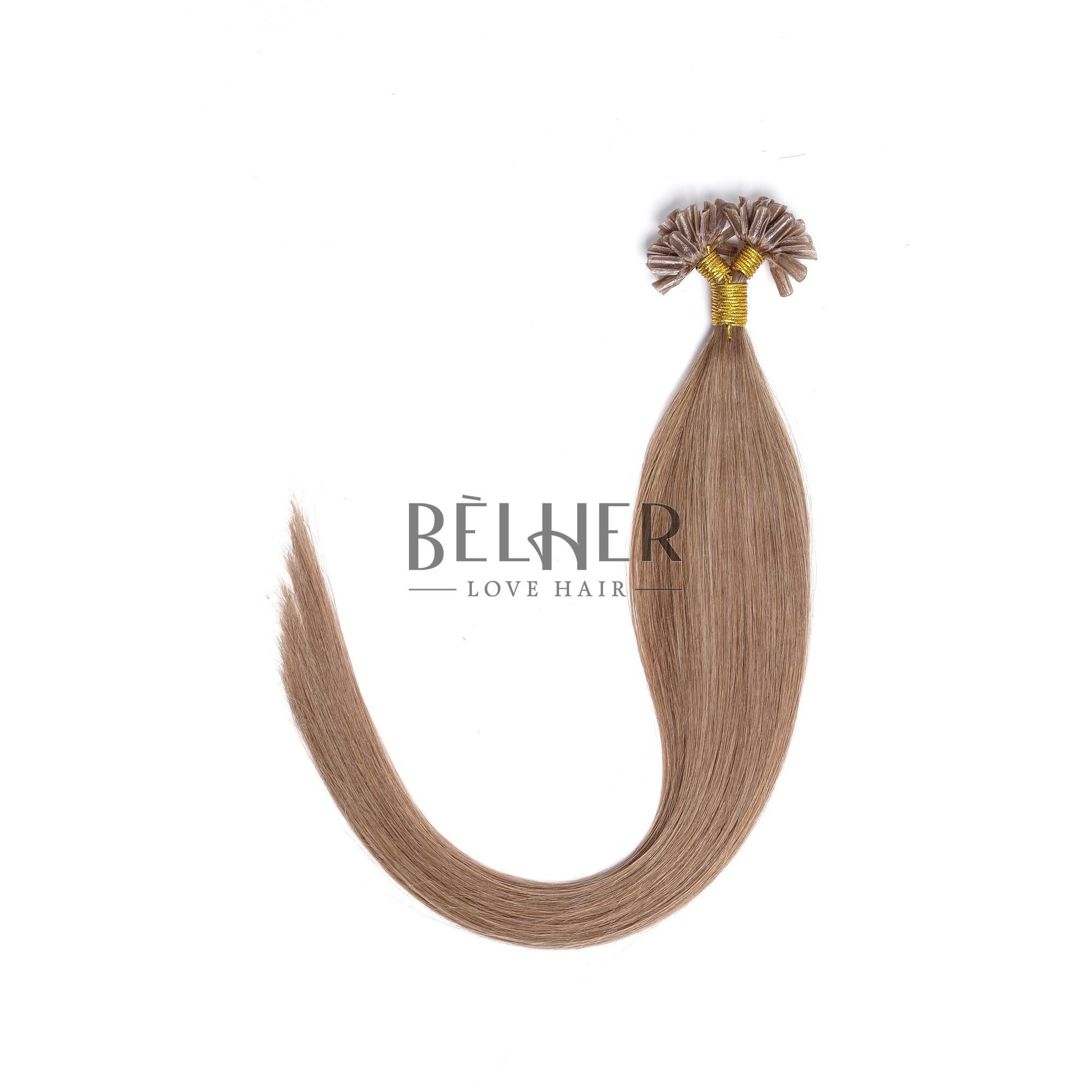Extensii Cheratina Premium Blond Inchis Cenusiu