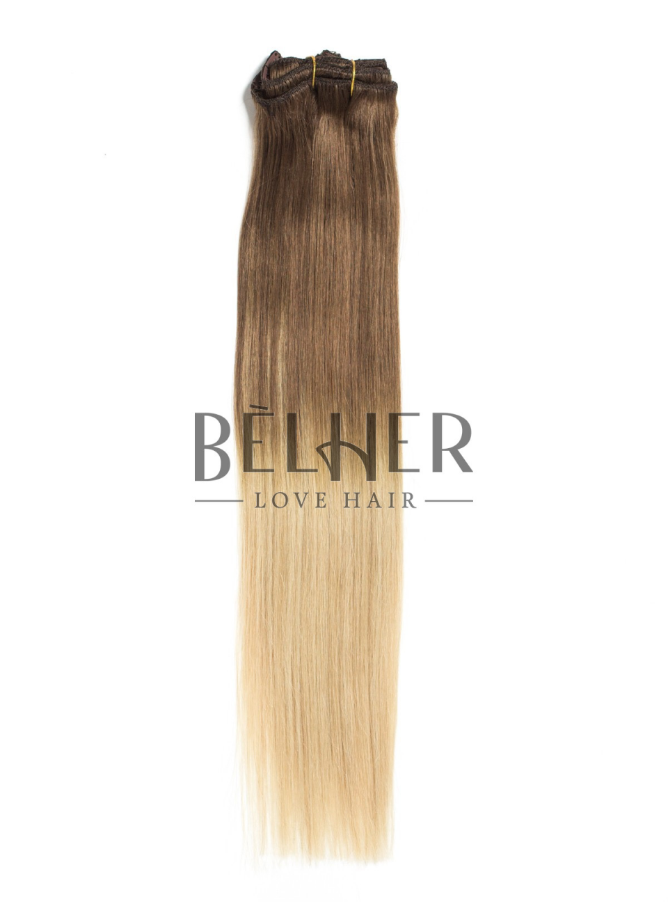 Ombre Saten Natural/Blond Clip-On Premium