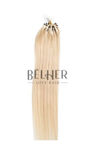 Extensii Microring Premium Blond Platinat