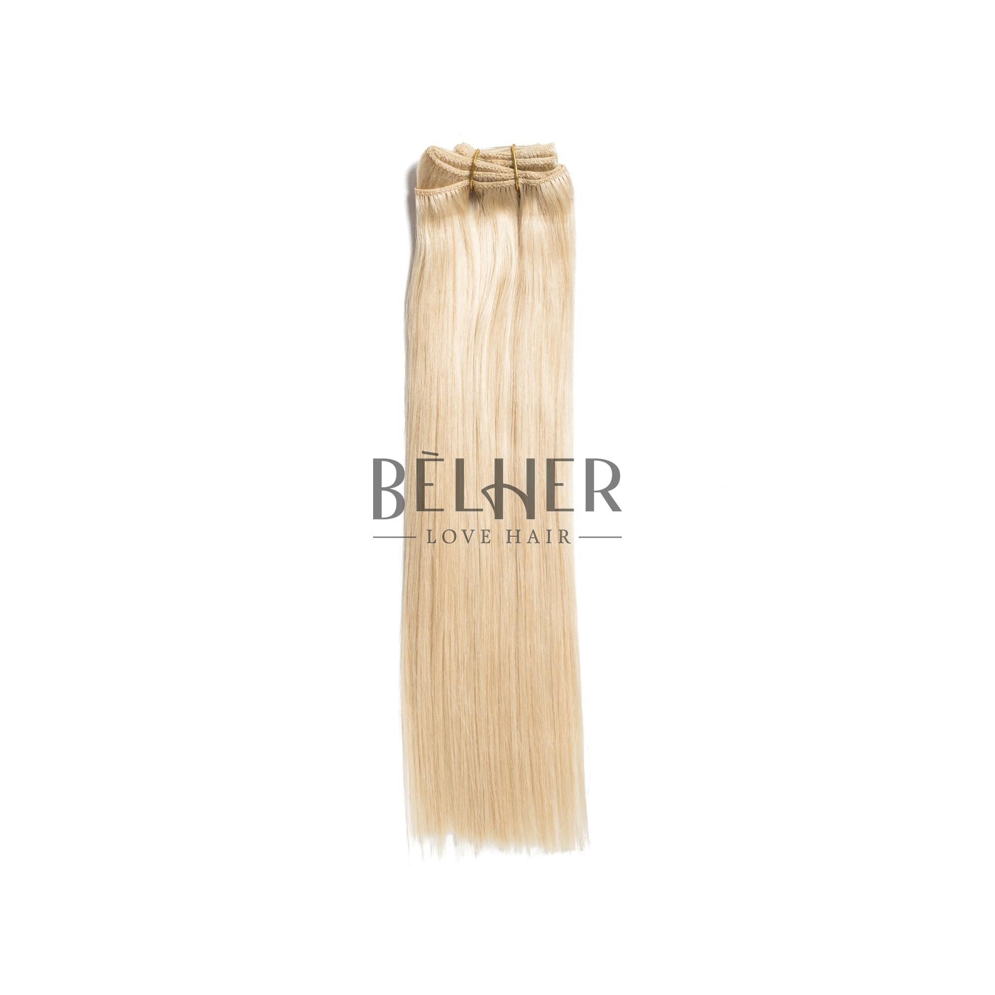 Extensii Clip-On Premium Blond Platinat