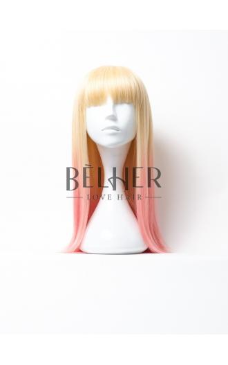 Peruca Sabrina Ombre Blond-Roz