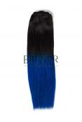 Extensii Ombre Brunet/Albastru Clip-On DELUXE