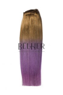 Extensii Ombre Blond Aluna/Pastel Purple Clip-On DELUXE