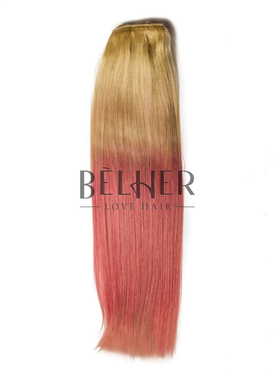 Extensii Ombre Blond/Pink Pastel Clip-On DELUXE