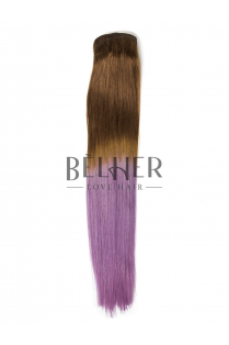 Extensii Ombre Saten Natural/Purple Clip-On Premium
