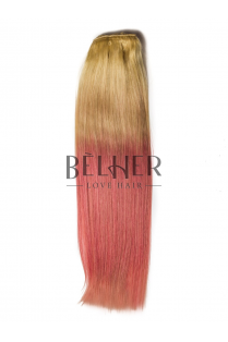 Extensii Ombre Blond/Pink Pastel