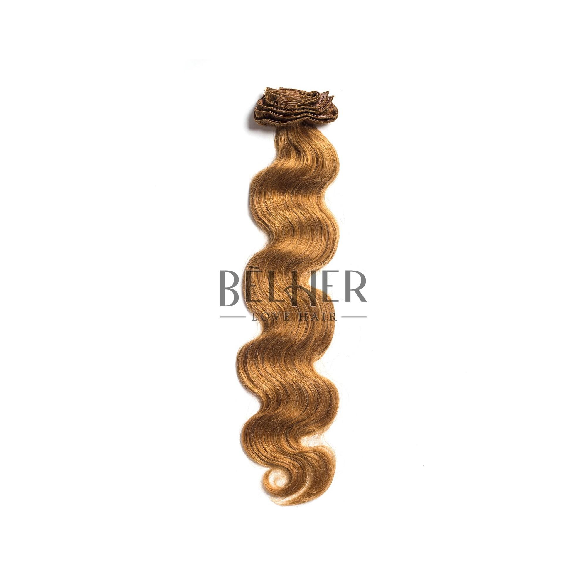 Extensii Clip-On Ondulat Premium Blond Miere