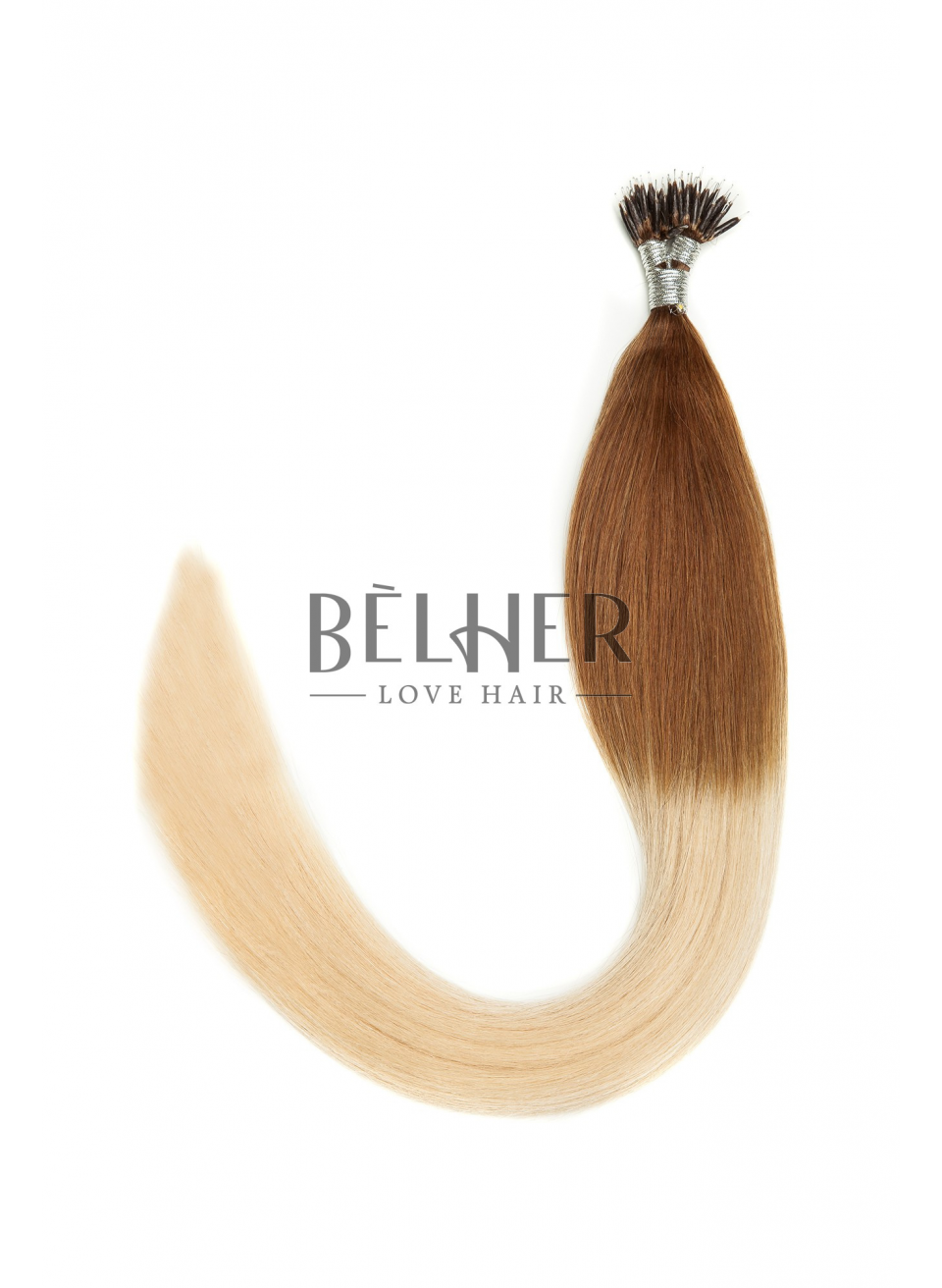 Extensii Nano-Ring Ombre Saten Natural/Blond